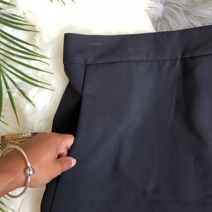 Aqua Shorts - Aqua Navy Envelope Asymmetrical Skort